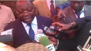M. Luc Magloire Mbarga Atangana- Ministre du Commerce lors du lancement de la campagne 2014/2015 a Bafoussam