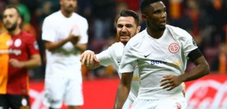 'Oldman' Samuel Eto'o scored from the spot at the 82nd minute